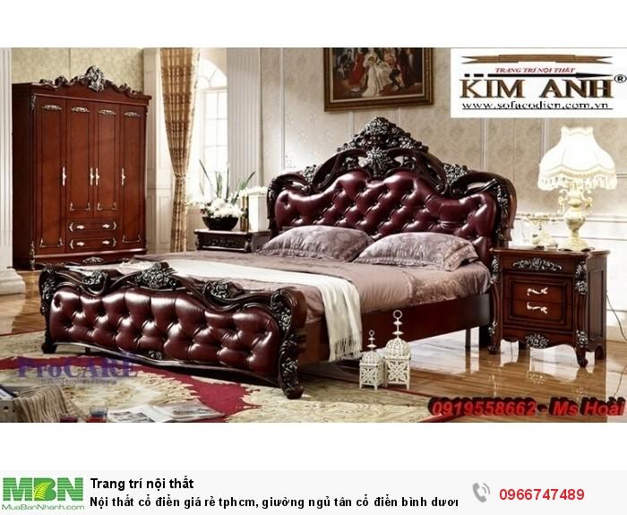 [6] Nội thất cổ điển giá rẻ TPHCM, giường ngủ tân cổ điển Bình Dương, Cần Thơ