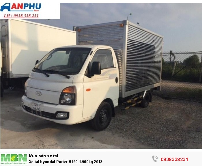 Xe tải hyundai Porter H150 1.500kg 2018