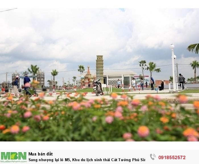 Sang nhượng lại lô M5, Khu du lịch sinh thái Cát Tường Phú Sinh, view kênh du lịch Sông Trăng