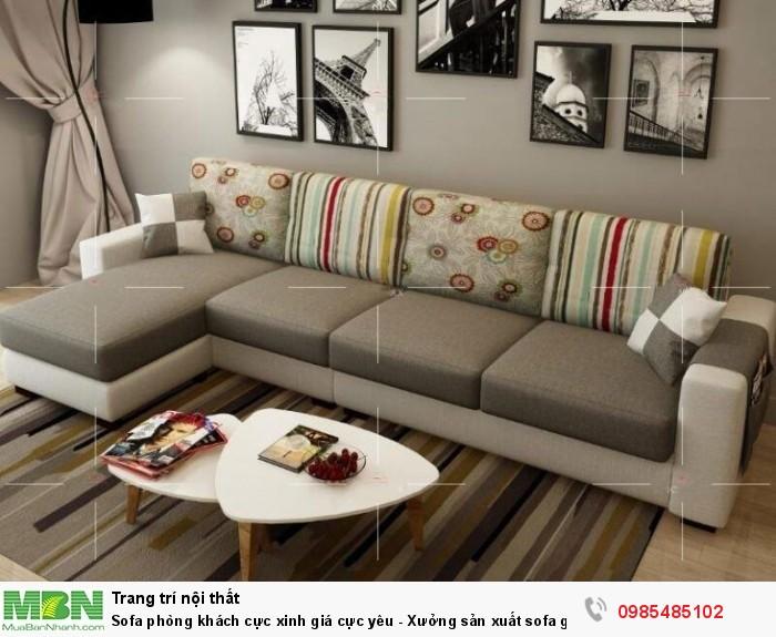 Sofa phòng khách cực xinh giá cực yêu - Xưởng sản xuất sofa giá rẻ