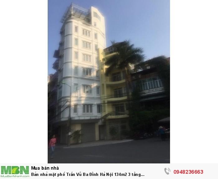 Bán nhà mặt phố Trấn Vũ Ba Đình Hà Nội 134m2 3 tầng mặt tiền 12m 56 tỷ
