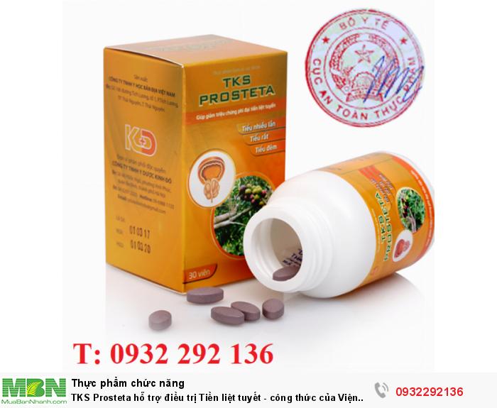 TKS Prostate là sản phẩm được nghiên cứu bởi Viên Y học bản địa, có tác dụng hỗ trợ điều trị phì đại tiền liệt tuyến, ngăn ngừa, làm giảm tiểu buốt, tiểu rắt, tiểu nhỏ giọt. Liên hệ: 0932 292 136 để được tư vấn và giao hàng0
