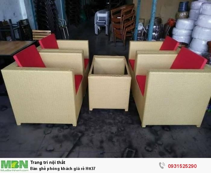 Bàn ghế phòng khách giá rẻ Htt370