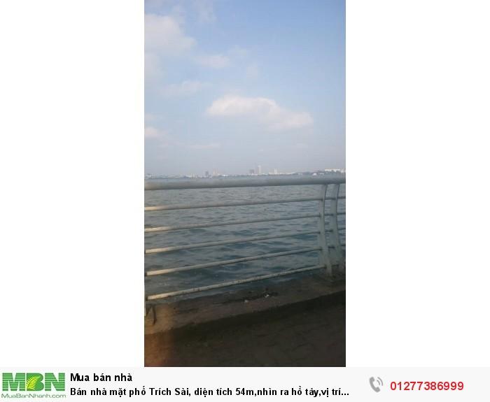 Bán nhà mặt phố Trích Sài, diện tích 54m,nhìn ra hồ tây,vị trí đẹp