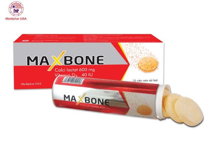 Viên sủi MAXBONE – Bổ sung canxi và vitamin D3