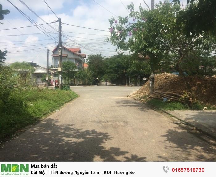 Đất MẶT TIỀN đường Nguyễn Lâm – KQH Hương Sơ