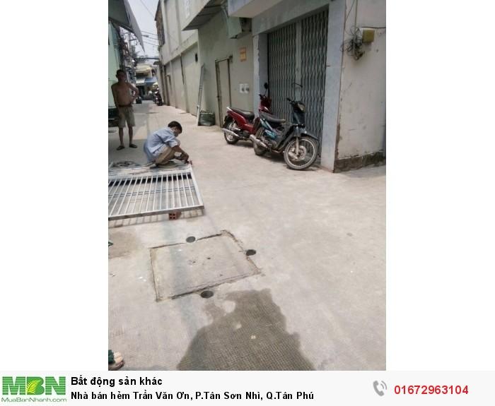 Nhà bán hẻm Trần Văn Ơn, P.Tân Sơn Nhì, Q.Tân Phú