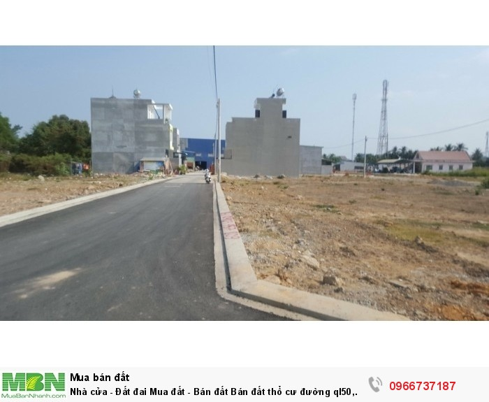 Nhà cửa - Đất đai Mua đất - Bán đất Bán đất thổ cư đường ql50, chiết khấu lên tới 10%