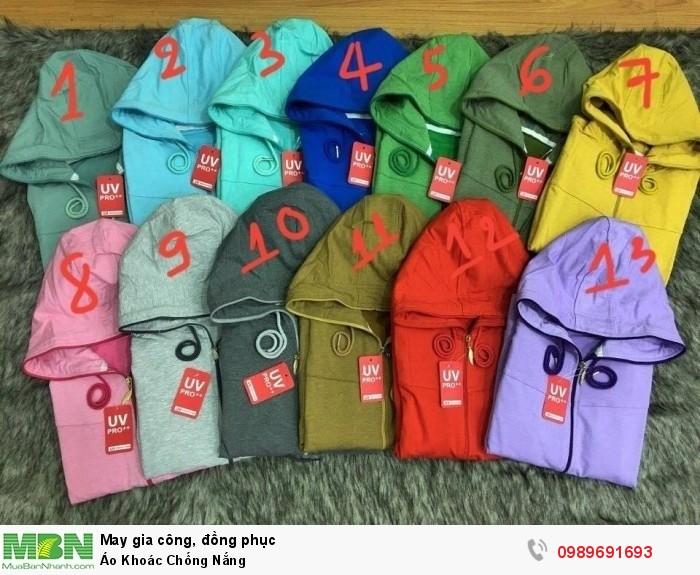 Áo khoác chống nắng, 13 màu phù hợp với nhiều lứa tuổi