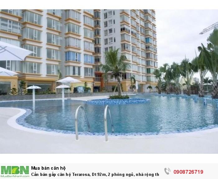 Cần bán gấp căn hộ Terarosa, Dt 92m, 2 phòng ngủ, nhà rộng thoáng mát, sổ hồng, view Đông Nam