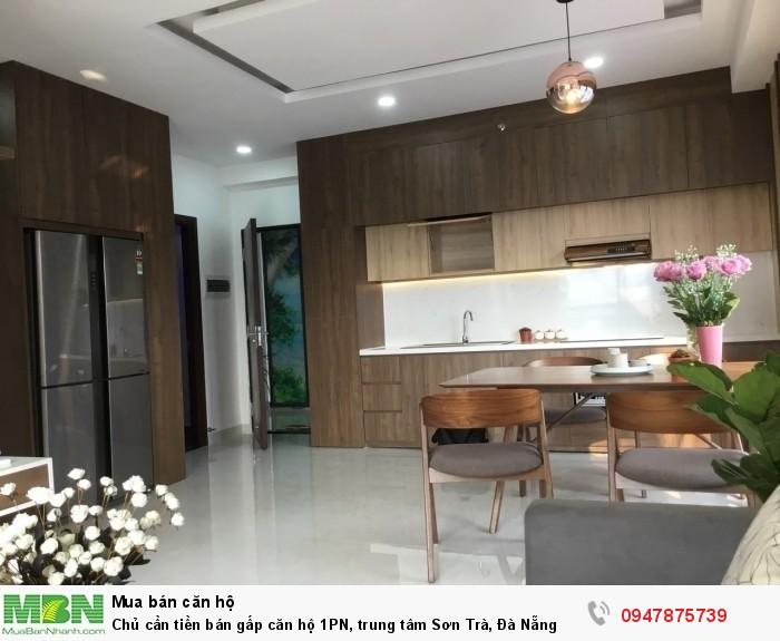 Chủ cần tiền bán gấp căn hộ 1PN, trung tâm Sơn Trà, Đà Nẵng