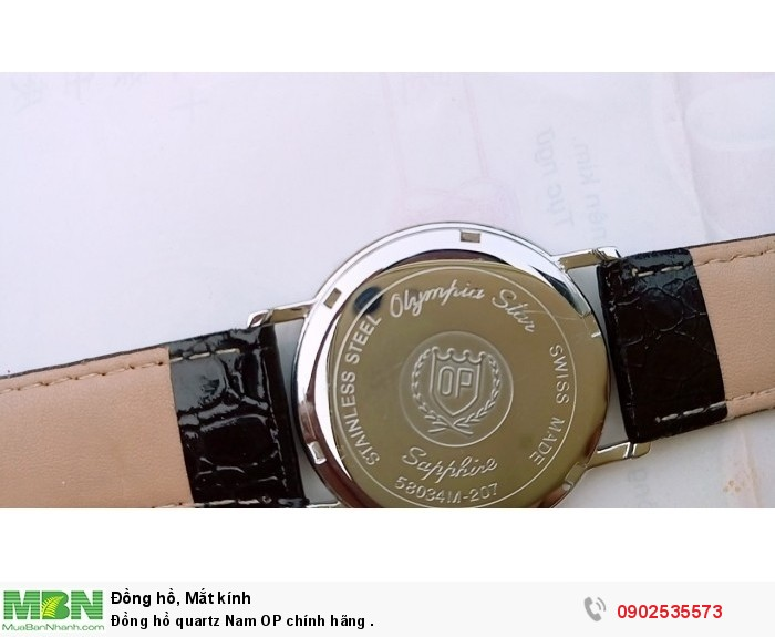 Đồng hồ quartz Nam OP Thụy Sỹ .2