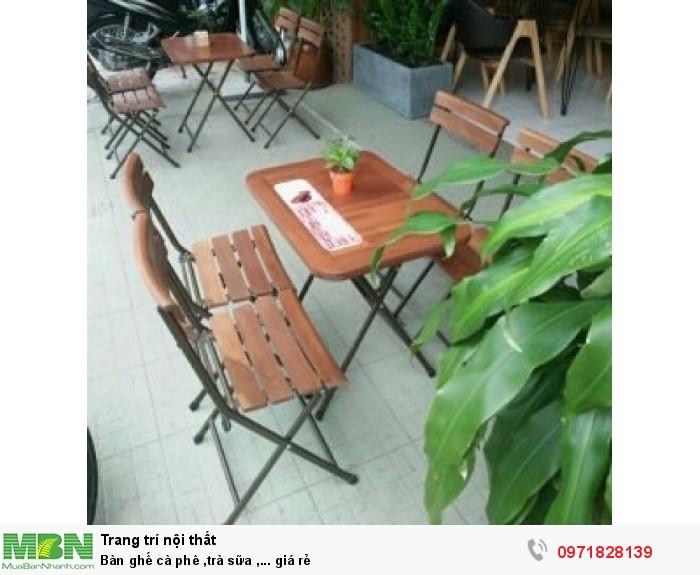 Bàn ghế cà phê ,trà sữa ,... giá rẻ2