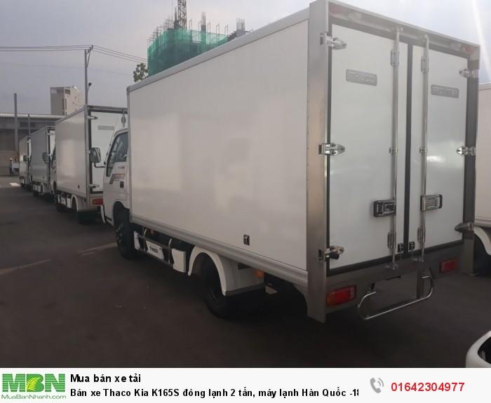 Bán xe Thaco Kia K165S đông lạnh 2 tấn, máy lạnh Hàn Quốc -18 độ