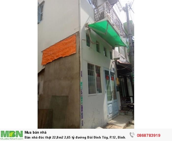 Bán nhà đúc thật 22,8m2 đường Bùi Đình Túy, P.12, Bình Thạnh