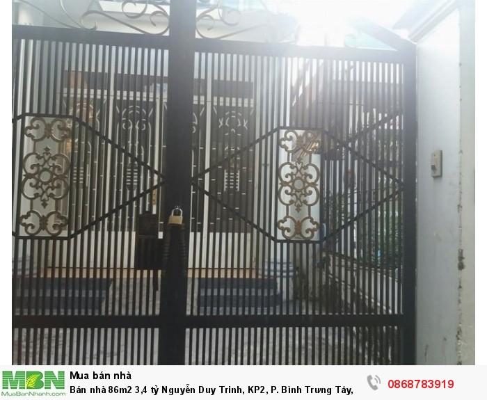 Bán nhà 86m2 Nguyễn Duy Trinh, KP2, P. Bình Trưng Tây, Q.2