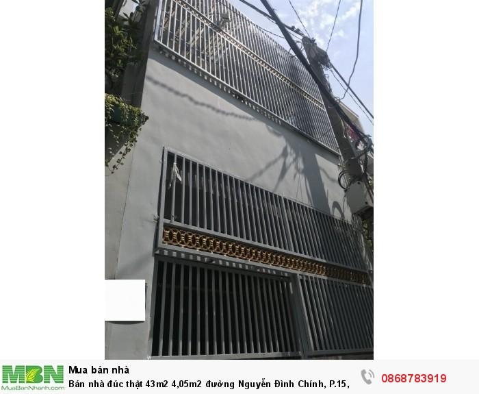 Bán nhà đúc thật 43m2 4,05m2 đường Nguyễn Đình Chính, P.15, Q.Phú Nhuận