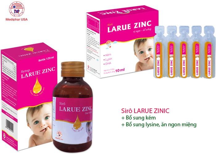 Bổ sung kẽm, lysine, DHA ăn ngon miệng – Sirô LARUE ZINIC2