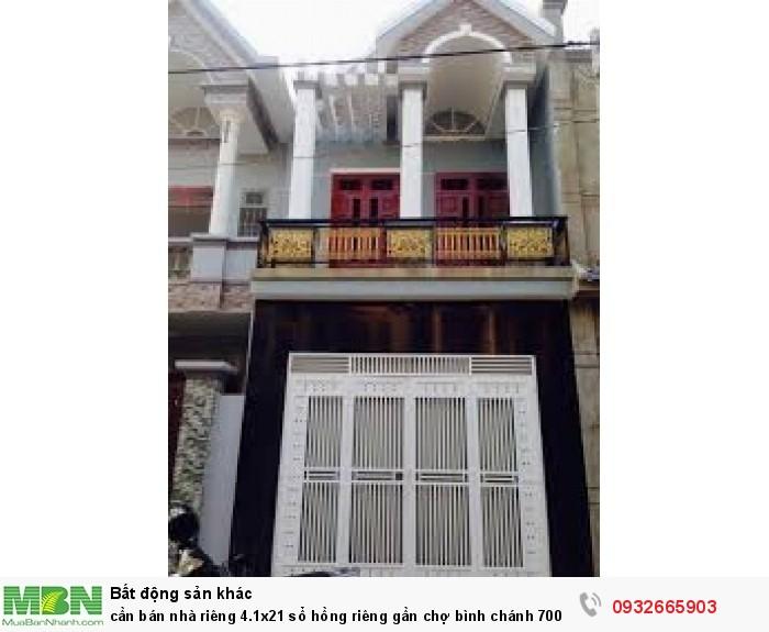 Cần bán nhà riêng 4.1x21 sổ hồng riêng gần chợ Bình Chánh