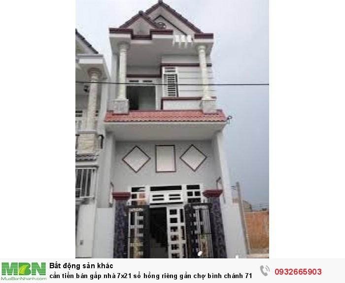 Cần tiền bán gấp nhà 7x21 sổ hồng riêng gần chợ Bình Chánh