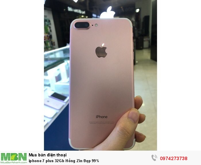 Iphone 7 plus 32Gb Hồng Zin Đẹp 99%0