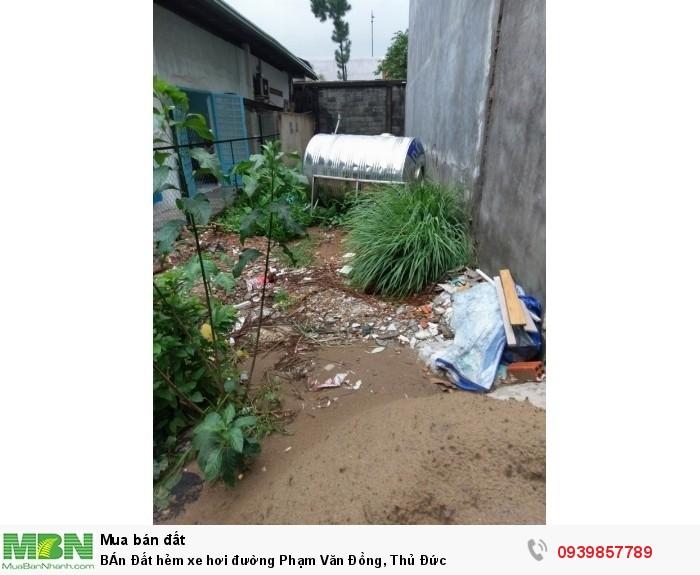 BÁn Đất hẻm xe hơi đường Phạm Văn Đồng, Thủ Đức