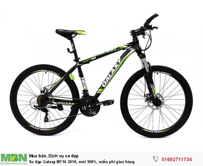 Xe đạp Galaxy MT16 2018, mới 100%, miễn phí giao hàng, màu đen xanh lá