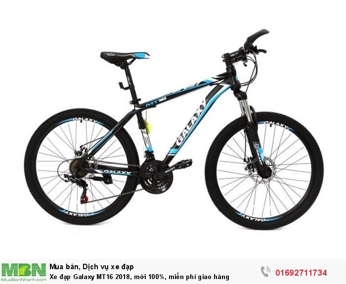Xe đạp Galaxy MT16 2018, mới 100%, miễn phí giao hàng, màu đen xanh trời
