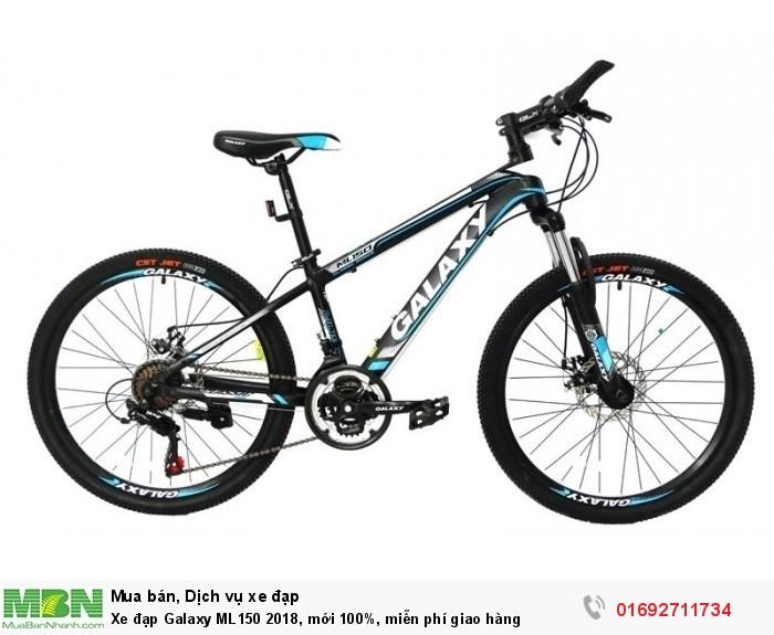 Xe đạp Galaxy ML150 2018, mới 100%, miễn phí giao hàng, màu đen xanh trời