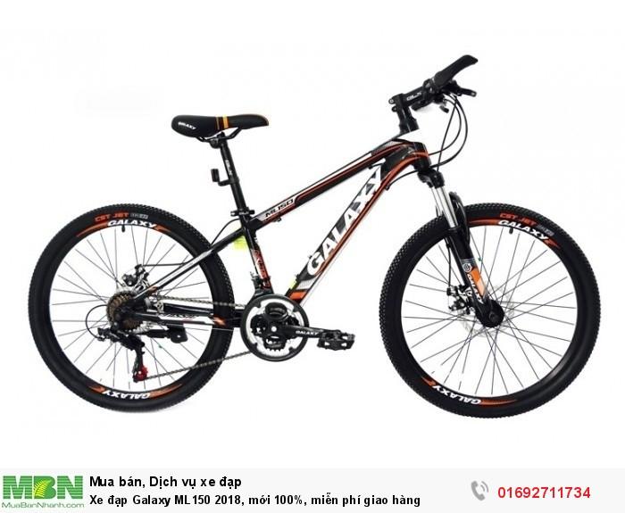Xe đạp Galaxy ML150 2018, mới 100%, miễn phí giao hàng, màu đen cam