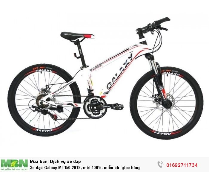 Xe đạp Galaxy ML150 2018, mới 100%, miễn phí giao hàng, màu trắng đỏ