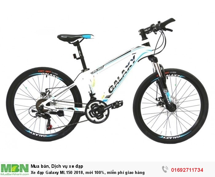 Xe đạp Galaxy ML150 2018, mới 100%, miễn phí giao hàng, màu trắng xanh trời