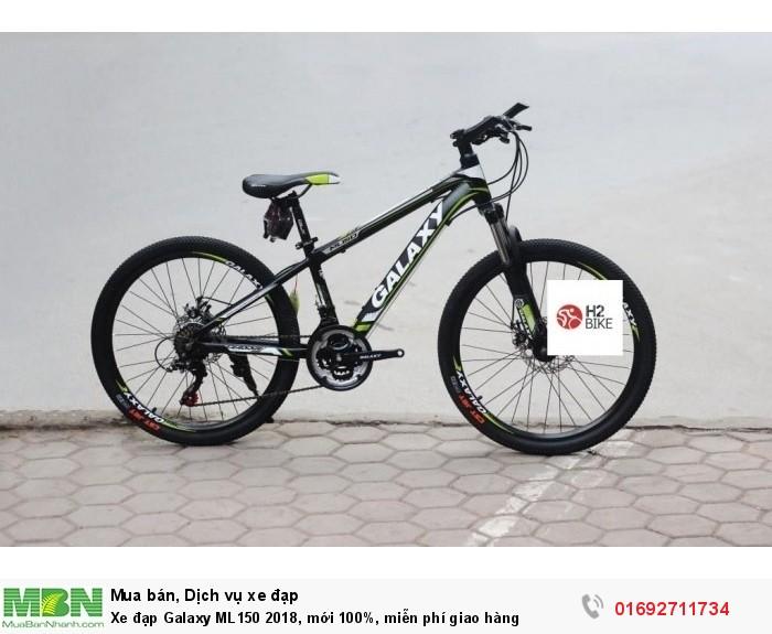 Xe đạp Galaxy ML150 2018, mới 100%, miễn phí giao hàng, màu đen xanh lá