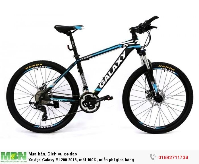 Xe đạp Galaxy ML200 2017, mới 100%, miễn phí giao hàng, màu đen xanh trời