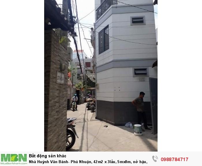 Nhà Huỳnh Văn Bánh- Phú Nhuận, 42m2 x 3lầu, 5mx8m, nở hậu. TL.