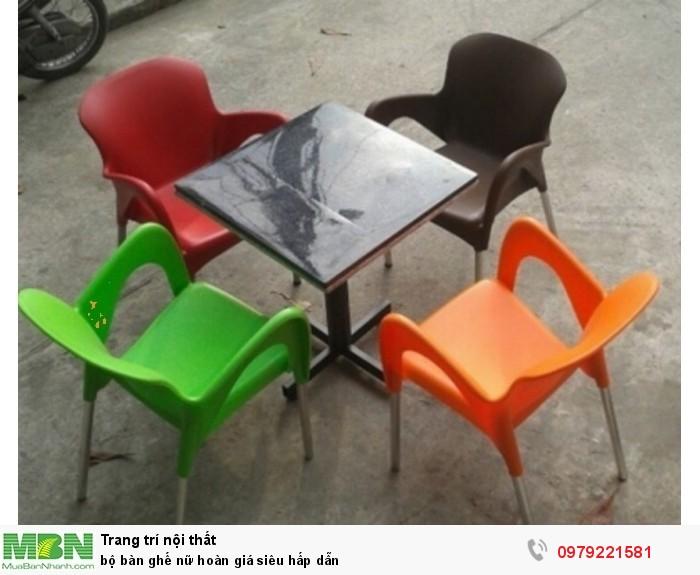 Bộ bàn ghế nữ hoàn giá siêu hấp dẫn
