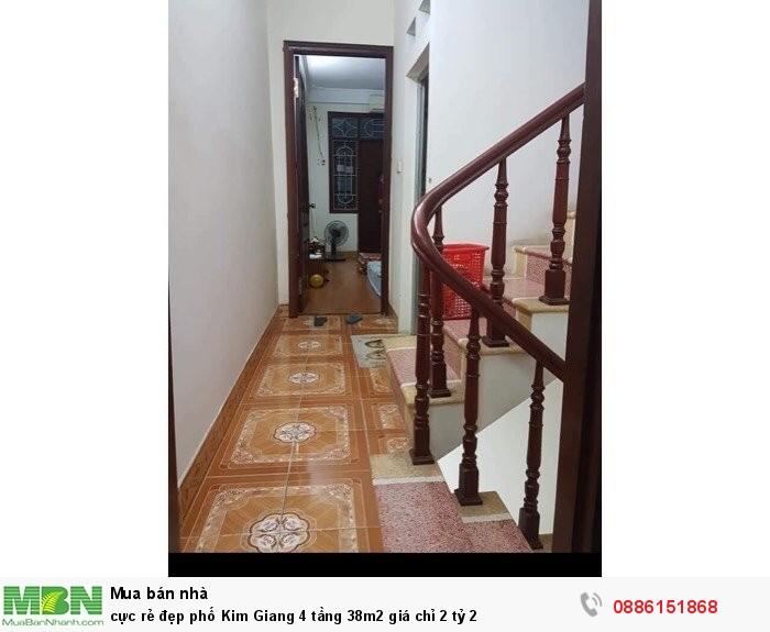 Cực rẻ đẹp phố Kim Giang 4 tầng 38m2 giá chỉ 2 tỷ 2