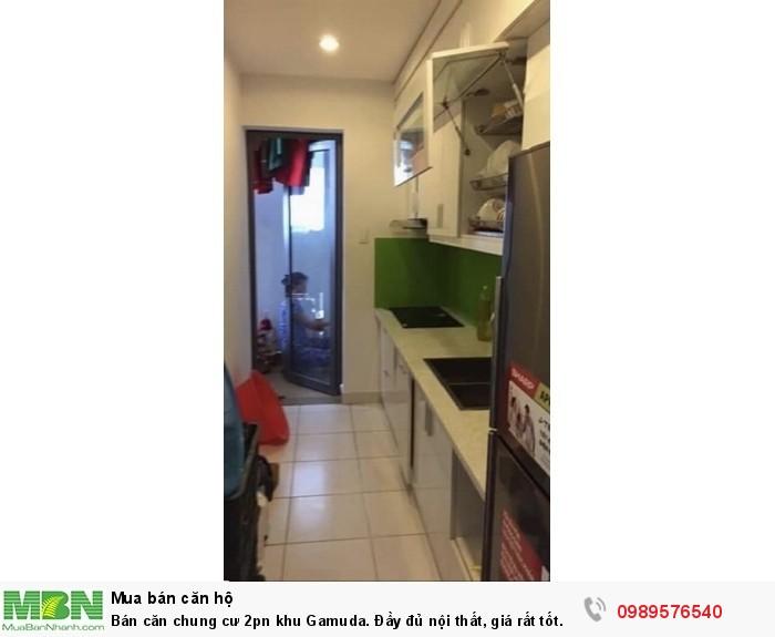 Bán căn chung cư 2pn khu Gamuda. Đầy đủ nội thất, giá rất tốt.