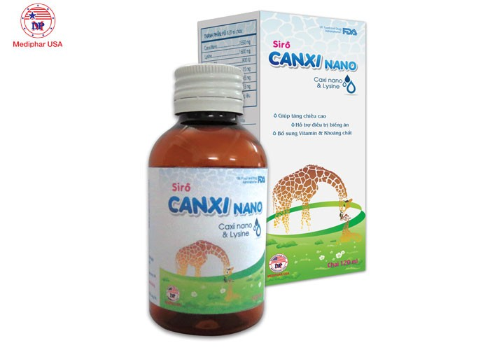 Sirô CANXI NANO - Hỗ trợ phát triển hệ xương trong cho trẻ