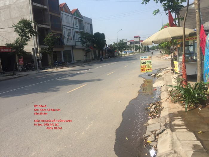 Bán 92m2 Đất Thổ Cư Trục Chính Lương Quy, Đông Anh, Hà Nội