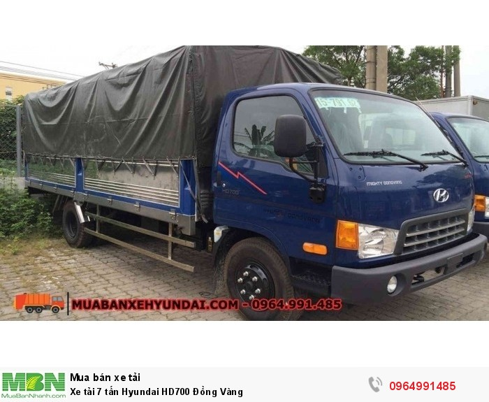Xe tải 7 tấn Hyundai HD700 Đồng Vàng 3