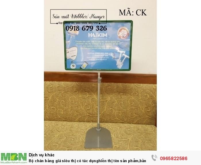Bộ chân bảng giá siêu thị có tác dụnghiển thị tên sản phẩm,bảng giá sản phẩm rất hiệu quả7