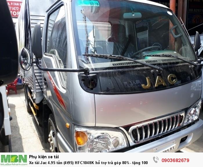 Xe tải Jac 4.95 tấn (4t95) HFC1048K hỗ trợ trả góp 80%- tặng 100% thuế trước bạ 0
