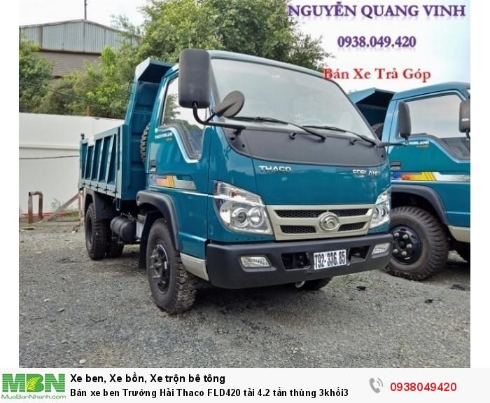 Bán xe ben Trường Hải Thaco FLD420 tải 4.2 tấn thùng 3khối3 2