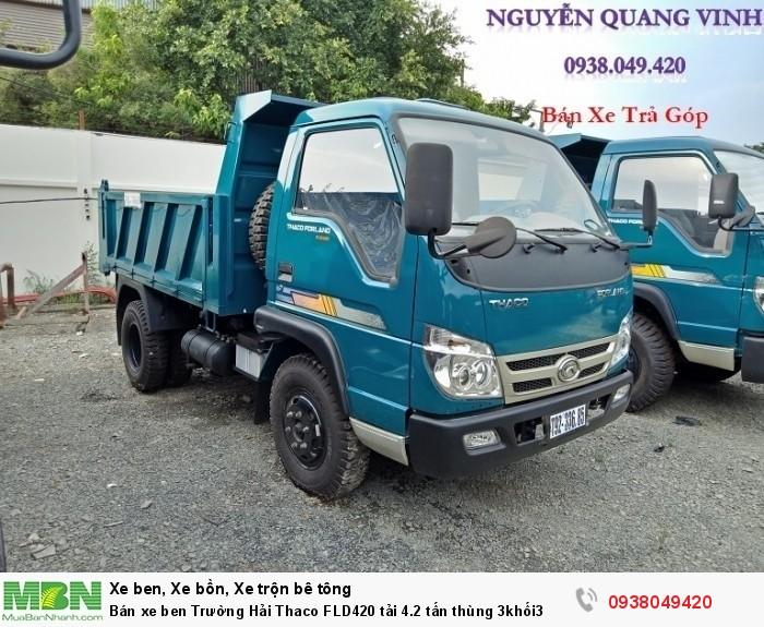 Bán xe ben Trường Hải Thaco FLD420 tải 4.2 tấn thùng 3khối3 3