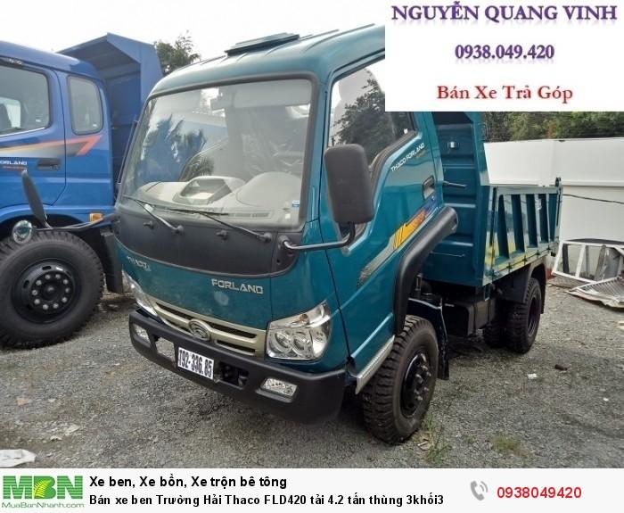 Bán xe ben Trường Hải Thaco FLD420 tải 4.2 tấn thùng 3khối3 4