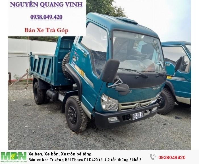 Bán xe ben Trường Hải Thaco FLD420 tải 4.2 tấn thùng 3khối3