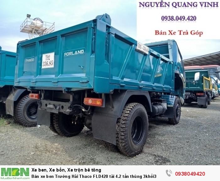 Bán xe ben Trường Hải Thaco FLD420 tải 4.2 tấn thùng 3khối3 6
