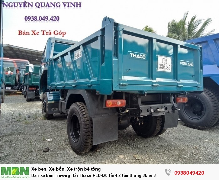 Bán xe ben Trường Hải Thaco FLD420 tải 4.2 tấn thùng 3khối3 9