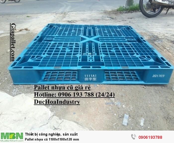 Pallet nhựa cũ 1100x1100x120 mm, giao hàng toàn quốc - Hotline: 0906193788 (24/24)